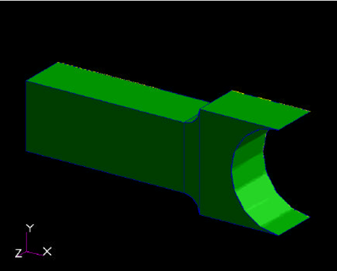 MODELING A STABELIZATION FIXTURE WITH END PRESSURE USING SOLID ELEMENTS