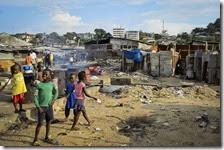 Un villaggio in Liberia