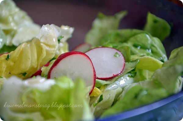 4 von 7 Sachen - Salat gemacht