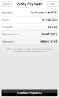 Screenshot of first direct Banking on the go