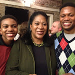 Destin Teamer (Martin) with his mother Shaunese and his father Andre Teamer (Arthur Figgits).