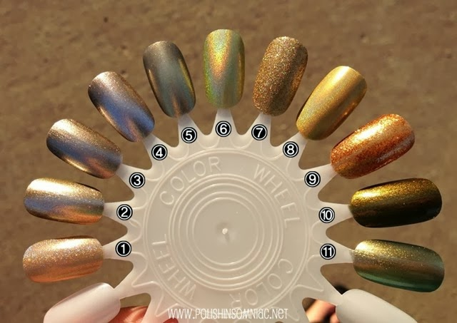 11 gold polishes via polish insomniac
