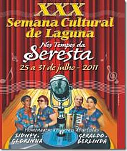 Cartaz XXX Semana Cultural de Laguna