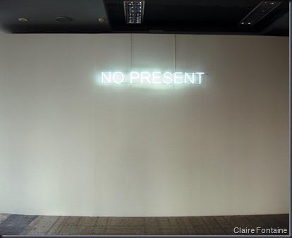 No present. Claire Fontaine