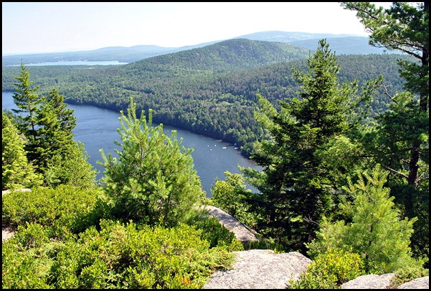 15 - CC view of Echo Lake and Acadia Mountain