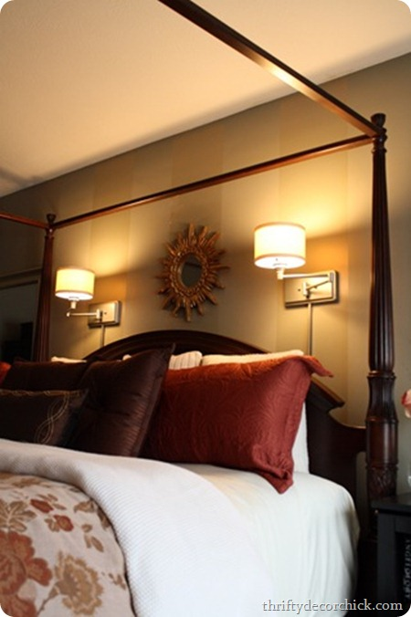 sconces above bed