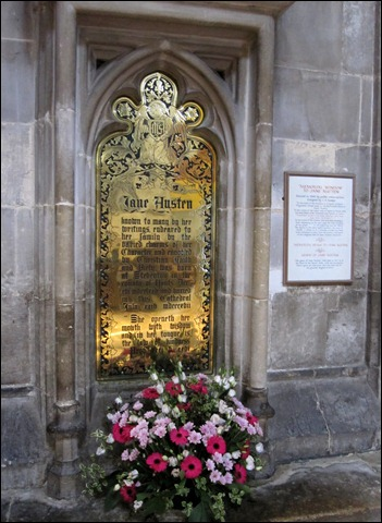 Jane Austen Brass memorial