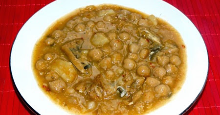 Mi mam y su cocina garbanzos con bacalao - Garbanzos olla express ...