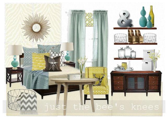 mood board for guest bed