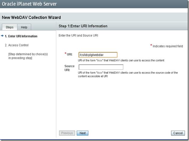 iPlanet-WebDav-Configuration-Wizard