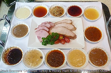 Parkroyal hotel Christmas Turkey with 12 signature sauces Laksa Giblet Cranberry BBQ Rendang Thai Mango Satay Black Pepper Mustard Tong Gui Herbal Sichuan Pineapple