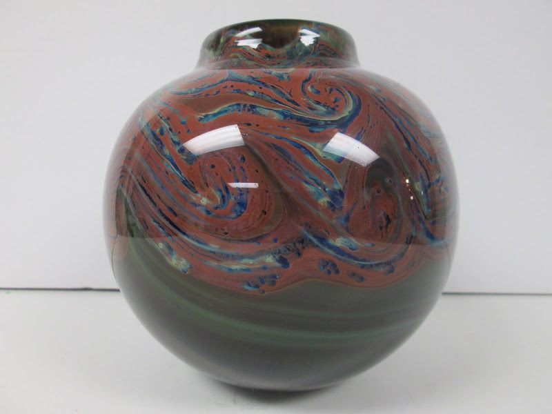 Signed Art Glass Vase 1