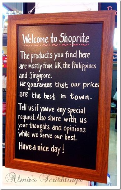 Shoprite signboard