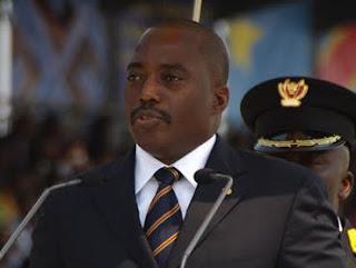 Le président de la RDCongo, Joseph Kabila, lors de la célébration de 50 ans de l'indépendance à Kinshasa le 30 juin 2010.