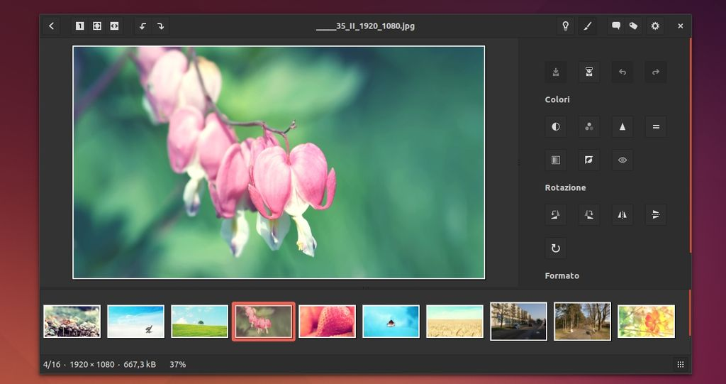 gThumb 3.3.2 in Ubuntu Linux