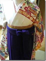 女袴の着付け練習 (5)