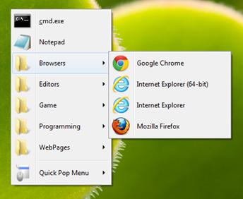 Quick Menu Launcher for Windows