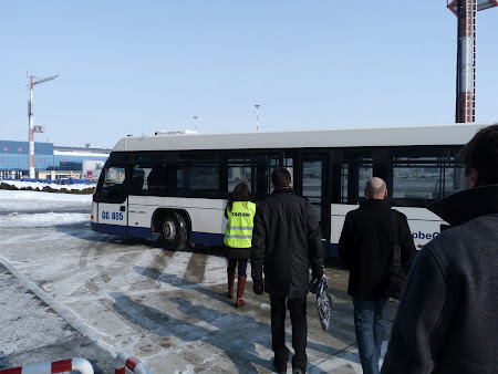 Autobuzul care sa ne duca la avion