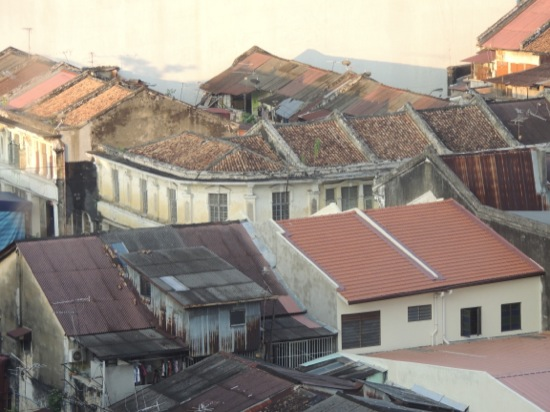 The roofs of George Town