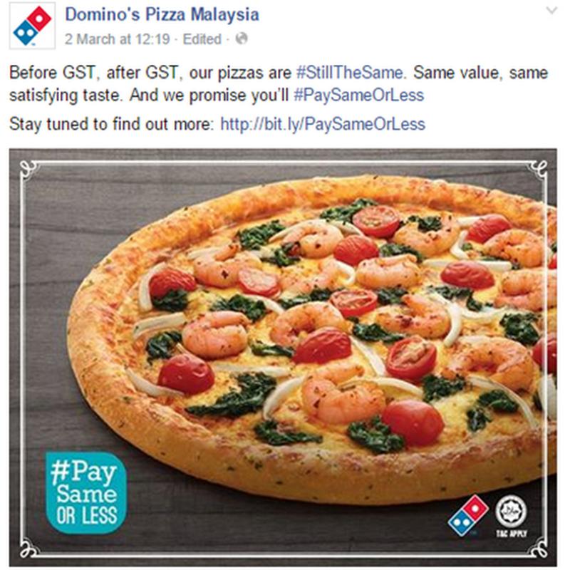 Berjimat dengan Domino's Pizza !