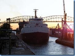 5237 Michigan - Sault Sainte Marie, MI - Soo Locks  - Canadian freighter Frontenac entering MacArthur Lock