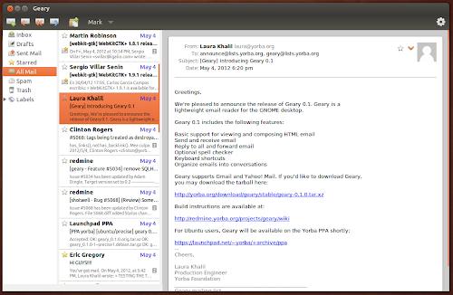 Geary su Ubuntu
