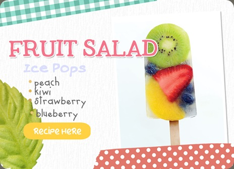 Fruit Salad Ice Pops Recipe — Dishmaps