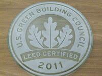 LEED Certified Plaque