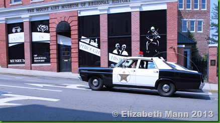 Vintage sheriff car
