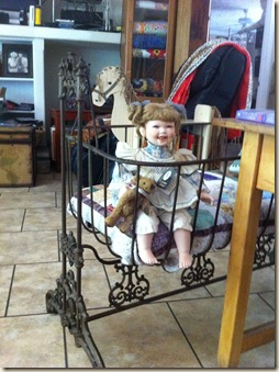 Cradle with doll