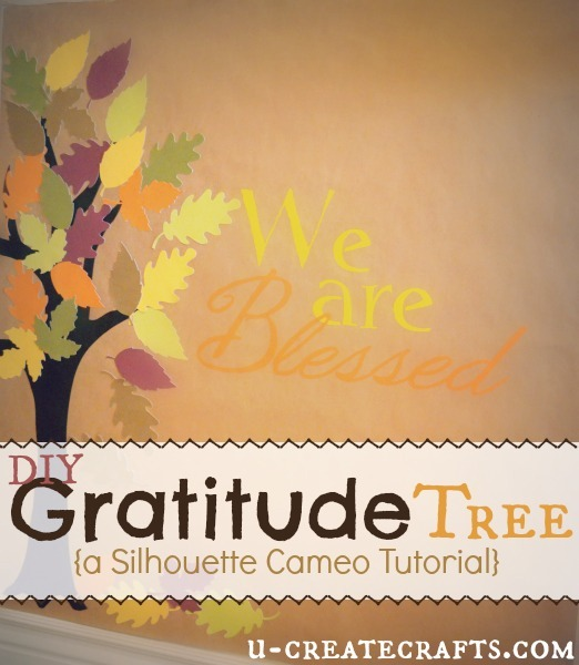 DIY Gratitude Tree at U-createcrafts.com