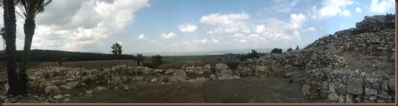 2.25 Tel Megiddo View of Valley of Jezreel Panorama