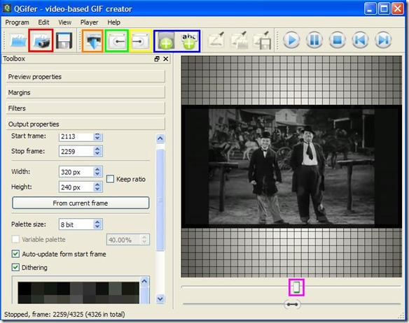 QGifer programma per creare gif animate da video