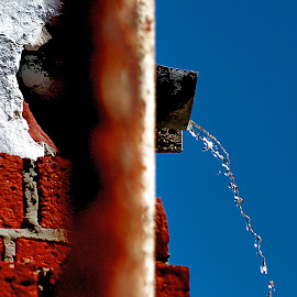 water from a drain by Magdalena Wysoczanska - Abstract Water Drops & Splashes