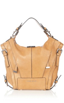KM leather tote