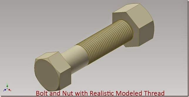 Bolt and Nut with Realistic Modeled Thread_1