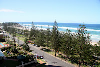 The view from our apartment at Burleigh