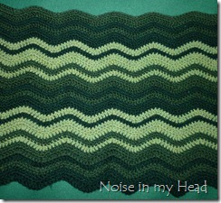 Green Ripple Afghan 2-7-12