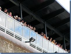 4963 Michigan - Sault Sainte Marie, MI -  St Marys River - Soo Locks Boat Tours - inside MacArthur Lock looking up at people on viewing platform
