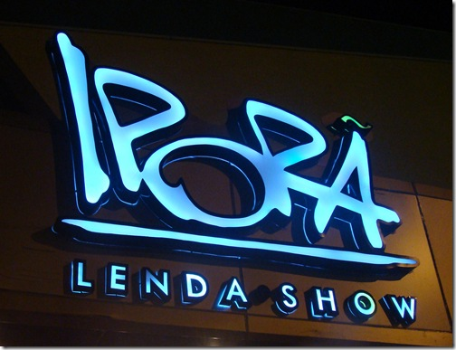 Ipora Lenda Show Foz do Iguaçu luminoso