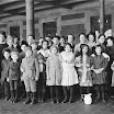 Immigrant children, Ellis Island, New York