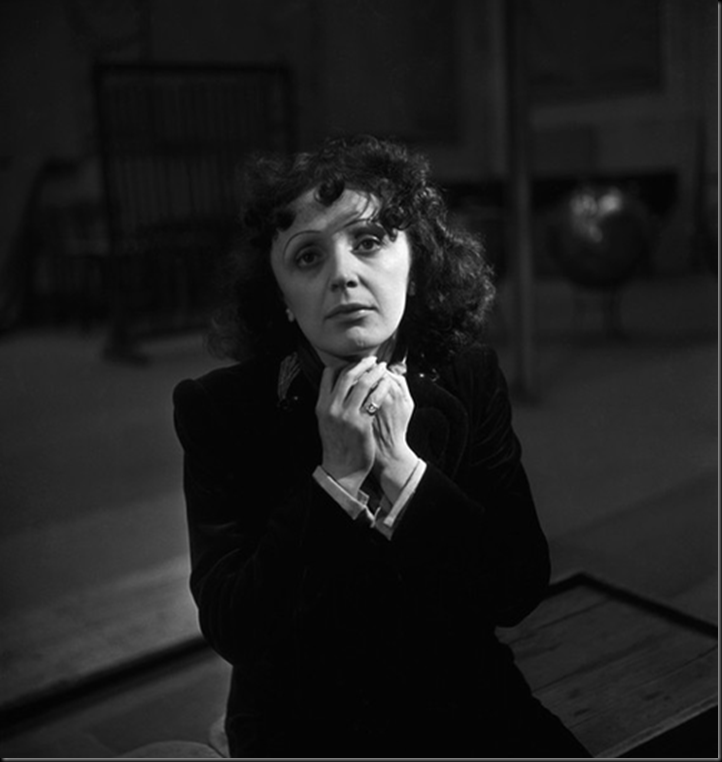 Edith Piaf, 1950 By Emile Savitry