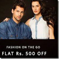 Myntra: Buy Clothing & Footwears Rs. 500 off from Rs. 150