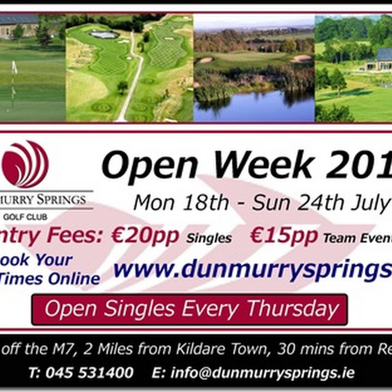 Visit Dunmurry Springs Open Week 2011 Starting 18th July