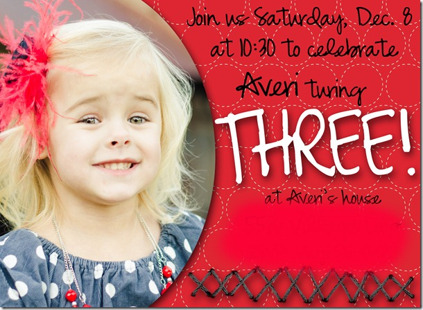 averi 3 bday invite copyblog