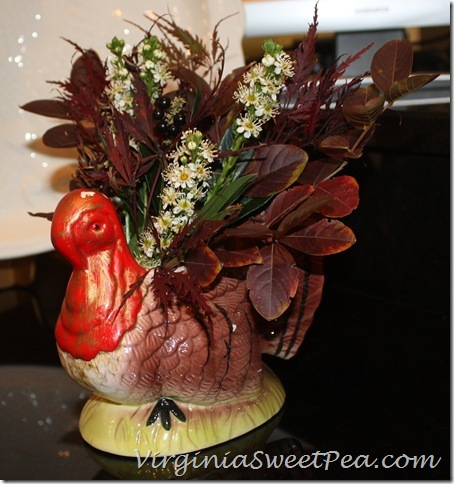 Turkey Planter in the Kitchen