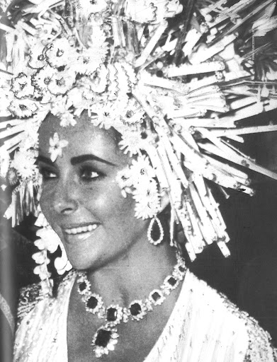 Her is Elizabeth at masked ball at the Ca'Rezzonico-September 1967.(Associated Press)