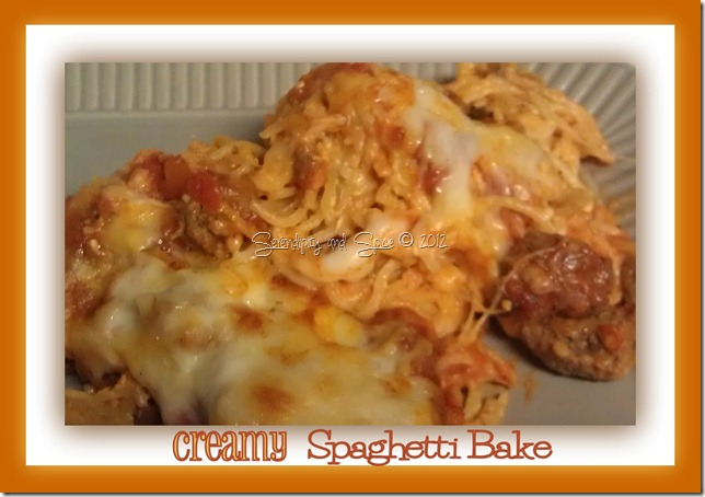 Recipe Creamy Spaghetti Bake