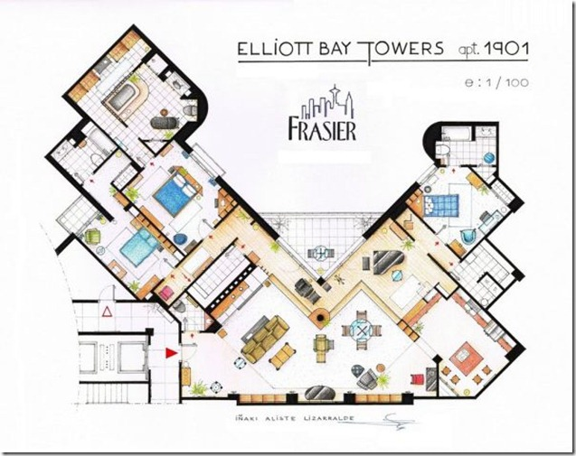 Television-Series-Apartments-Floor-Plans-Frasier