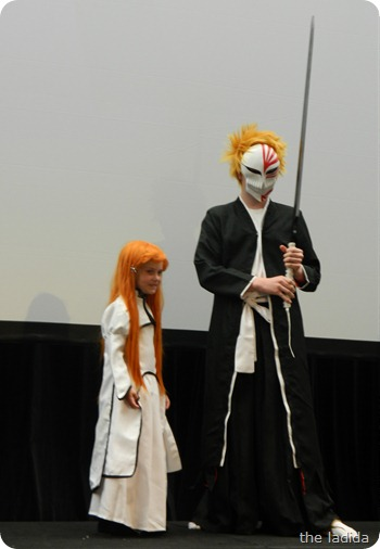 EB Expo Just 'Cos Cosplay Competition - Ichigo and Orihime from Bleach